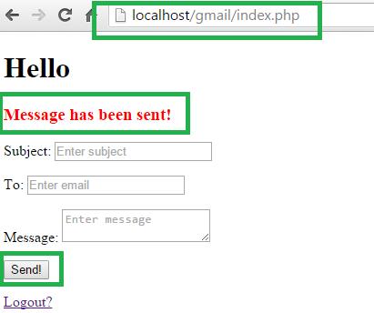 PHP Send Email Via Gmail API sucess