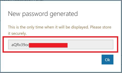 generate password for microsoft app Register