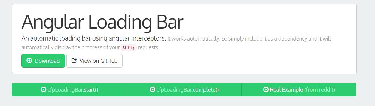 Angular Loading Bar with example and demo- Angularjs - onlinecode