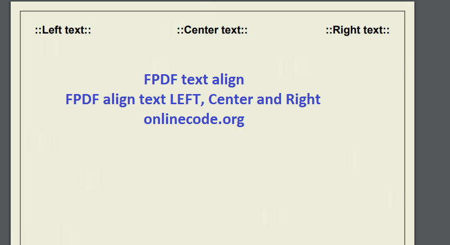 Fpdf Image