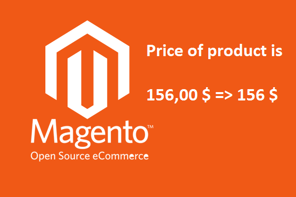Magento remove decimal points from the price