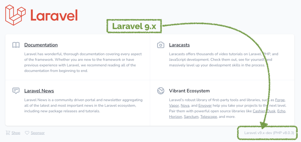 How to install Laravel 9 DEV